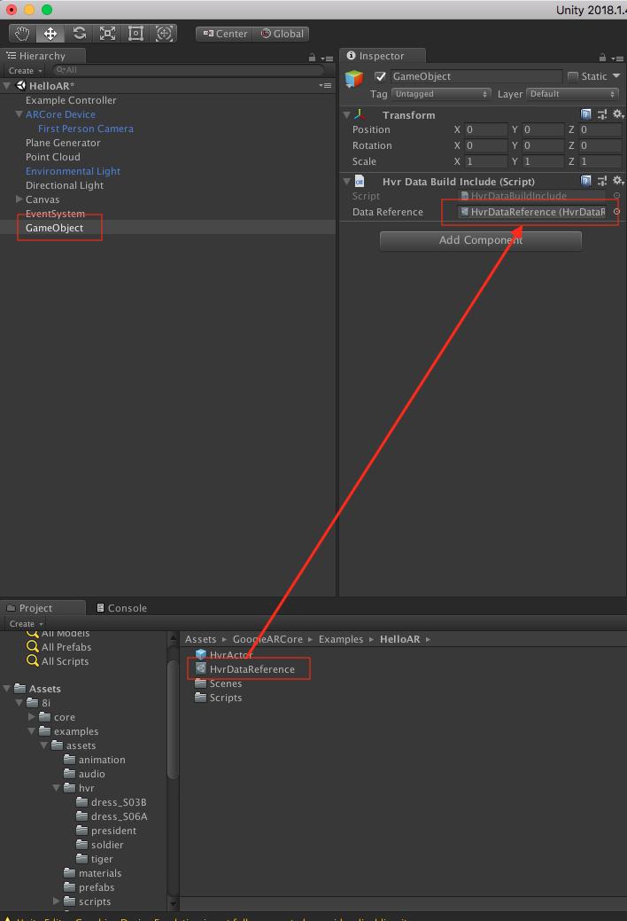 ARCore Tutorial — 8iUnityPlugin 0 6 0 documentation